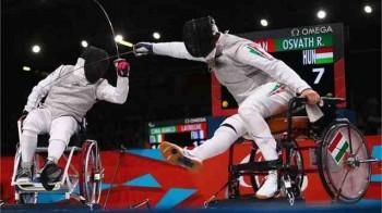 Richard Osvath, in dreapta imaginii, la Paralimpiada