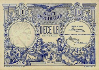 primul bilet ipotecar, considerat prima bancnota romaneasca