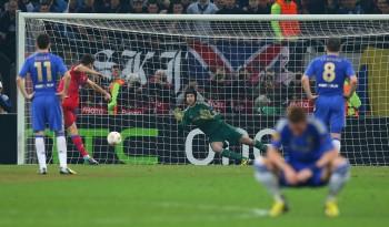 Golul marcat de Raul Rusescu în minutul 34