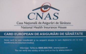 Valabilitatea cardului european de sănătate este de 1 an