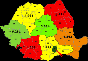 harta zonelor PIB