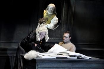 "Scenă din ""Văduva Karnyo"", regia Keresztes Attila"