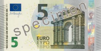 noua bancnota de 5 euro