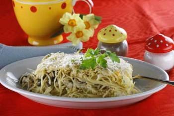 spaghetti cu ciuperci