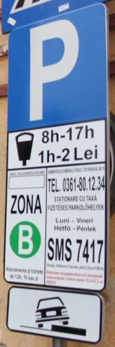 Afişaj de parcare