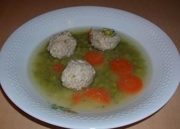 Supa de mazare cu perioare