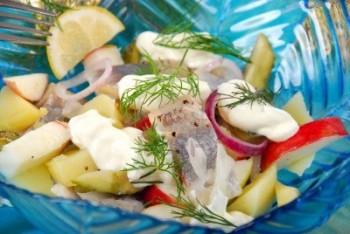 Salată varşoviană de heringi