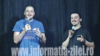 Sergiu Floroaia şi Andrei Ciobanu s-au întâlnit pentru a doua oară cu publicul sătmărean şi, din spusele lor, de această dată, show-ul a fost unul mult mai reuşit