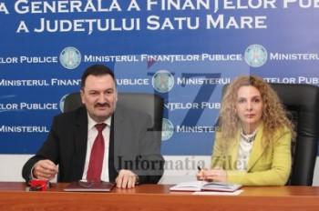 Mircea Ardelean si Dana Godja, la conferinta de presa