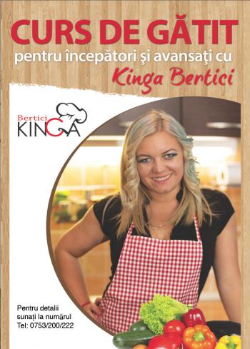Kinga Bertici vă invită la cursul de gatit