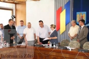 Noul consilier judetean, Gheorghe Ciocan, a depus juramantul