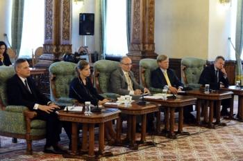 Oamenii de afaceri au discutat cu preşedintele Băsescu la Cotroceni