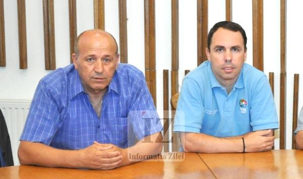 Valeriu Neagu - preşedintele CSM Satu Mare şi Petru Eleş - fostul antrenor de la CSM Satu Mare