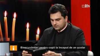 Preotul dr. Cristian Boloş în Studioul Informaţia TV