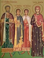 Sfantul Eustachie si familia sa