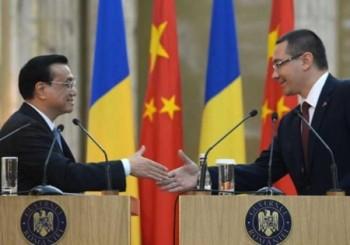 premierul chinez, Li Keqiang si Victor Ponta la încheierea unei runde de convorbiri