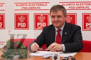 presedintele PSD judetean si vicepresedinte al CJ, Mircea Gvor la conferinta de presă
