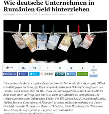 Scandalul EADS in presa germana