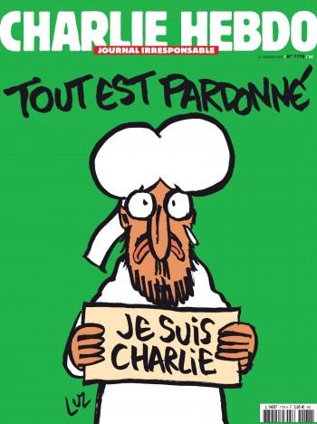 Coperta Charlie Hebdo după atac