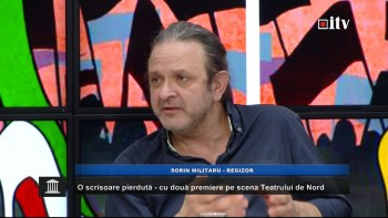 Regizorul Sorin Militaru in studioul Informatia TV