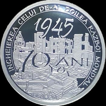 BNR a lansat o moneda aniversara cu ocazia implinirii a 70 de ani de la incheierea celui de al Doilea Razboi Mondial