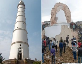 Turnul istoric Dharara din Kathmandu s-a prăbuşit