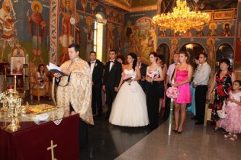 Cununie religioasă la Biserica Sfânta Mina