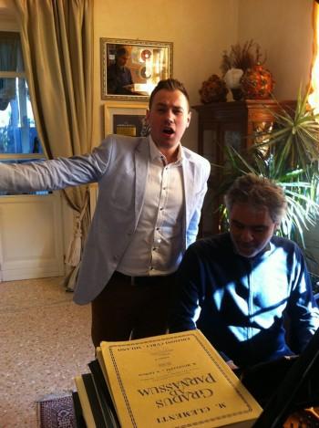 Nagy Norbert alaturi de Andrea Bocelli