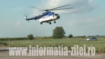 Heroina a fost transportata cu elicopterul la Bucuresti