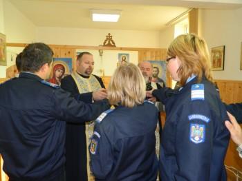 Jandarmii sătmăreni şi-au sărbătorit patronii spirituali, pe sfinţii Arhangheli Mihail şi Gavriil