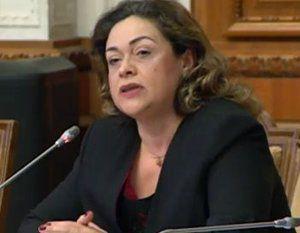 Ana Costea, ministrul demisionar al Muncii