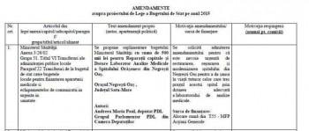 Amendamentul depus la bugetul ţării de către deputatul Andreea Paul pentru anul 2015