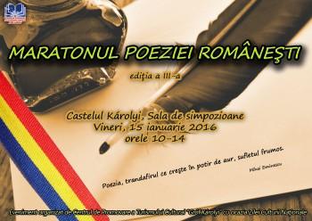 Maratonul poeziei româneşti 2016