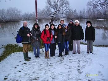 Grupul observator la mira de apă la cantonul Tur mal stâng Micula
