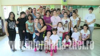 Copii de la două centre au participat pentru prima dată la ore de aerobic