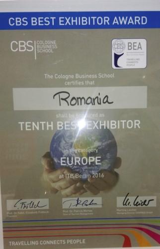 Diploma primita de Romania la CIT