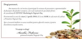 Invitatie intalnire fonduri 1 aprilie 2016