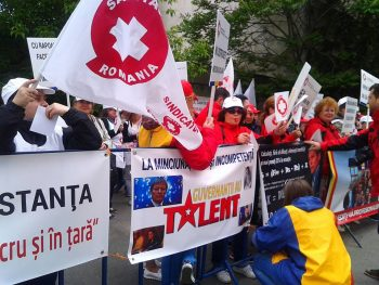 SANITAS continuă acţiunile de protest după calendarul anunţat