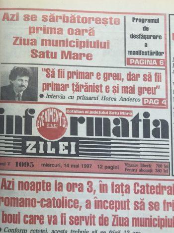 Prima ediţie de acum 20 de ani - 14 mai 1997 - a avut loc într-o zi de miercuri