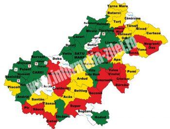 Harta politica a judetului Satu Mare