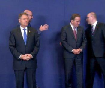 Klaus Iohannis la fotografia de grup de la Consiliul European