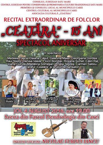Invitat special este Nicolae Furdui Iancu.