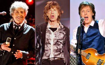Bob Dylan, Mick Jagger, Paul McCartney
