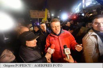 Klaus Iohannis la mitingul din Capitală