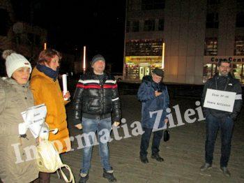 Protestatari la Satu Mare