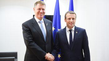 Klaus Iohannis şi Emmanuel Macron