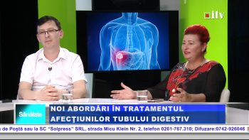 dr. Bogdan Pintea, coordonatorul sectiei de Gastroenterologie si Edita Ghilea, presedinta Lions Club Somes