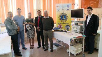 Clubul Lions Someş Satu Mare a făut o donaţie de dispozitive medicale Secţiei de Gastroenterologie de la Spitalul Judeţean