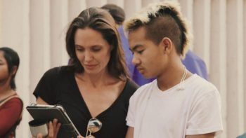 Angelina la filmări