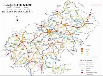 Harta cu drumurile proaste din judeţ